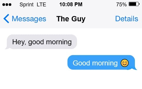 Reply to good morning text